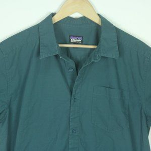 Patagonia Mens Camp Shirt Sz Large Organic Cotton